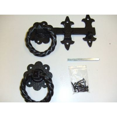 Antique 8in ring latch