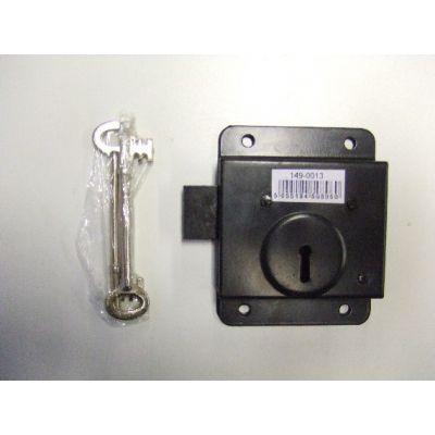 Black rim lock