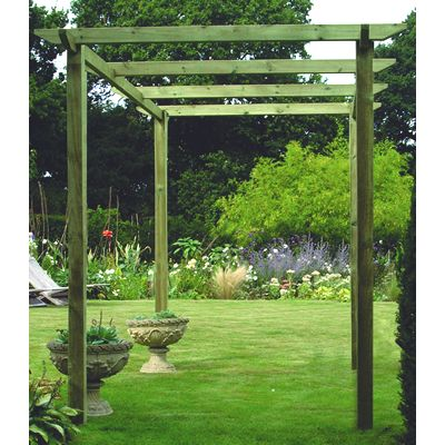 Slotted Pergola Post (Centre Notched)