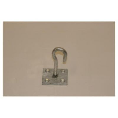 Chain Hooks on Square Plate (Galvanised)