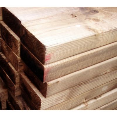 100mm x 50mm C16 Graded Eased Edge Timber (Gate Material)