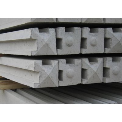 Corner Slotted Concrete Post