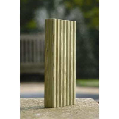 125mm x 38mm Ribbed Decking Board