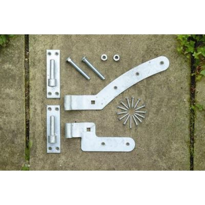 European gate hinge set