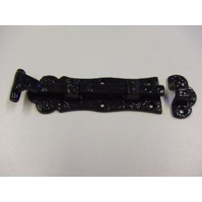 Ornamental Door Bolt (Black)