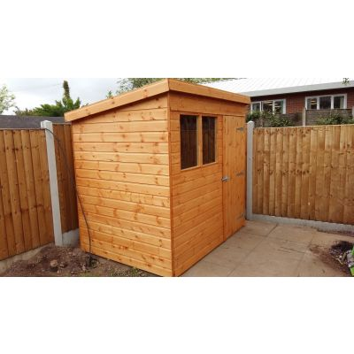 Pent Shiplap Shed (Delivered Only) 7ft (2.1m) x 5ft (1.5m)