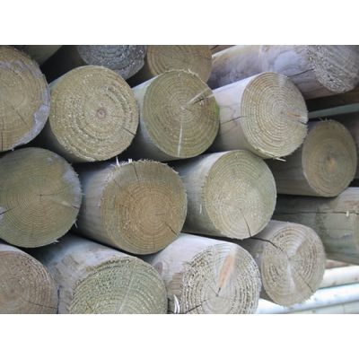 100mm Machined Round Retaining Logs