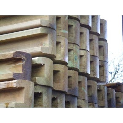 Round Top Slotted Timber Post