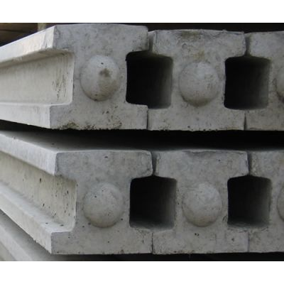 Slotted Concrete Post 125mm x 100mm