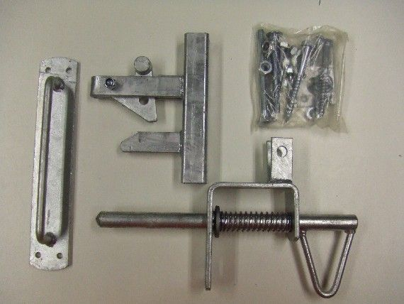 Straight Up Handle KIT Uni Latch Long Handle Gate Latch Kit Gate Catch Set for Metal Gate Galvanised