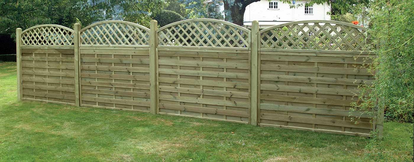 fence panels in garden